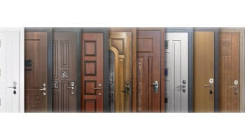 Варианты покраски входных дверей